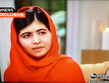 Malala Interviewed by Diane Sawyer, ABC--TWE TOP 10--10/7/13--ABC Screenshot
