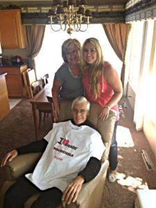 Rachel Van Dyken, romance novelist, with her family