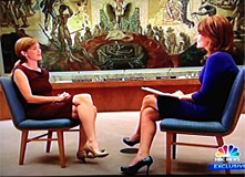 Samantha Power UN Ambassador and Savannah Guthrie on Meet the Press/10-6-13