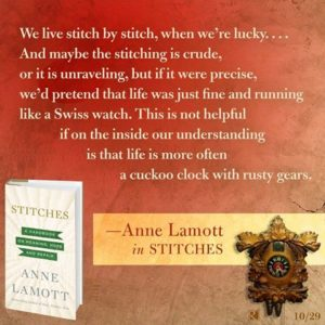 Anne Lamott ad for Stitches