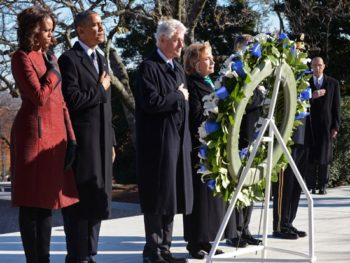 Obama and Clinton at JFK Eternal Flame