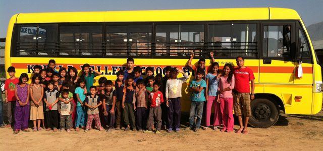 Maggie Doyne's new bus for Kopila School