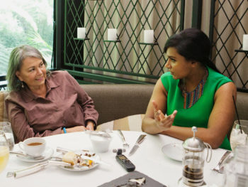 Roseanne Barr/Mindy Kaling--Photo: Emily Berl/NYTimes