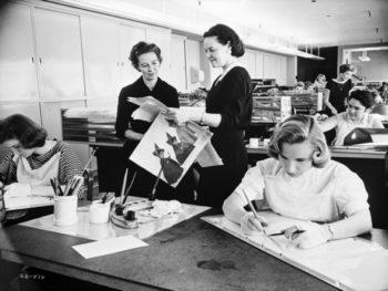 Women working at Disney, 1959
