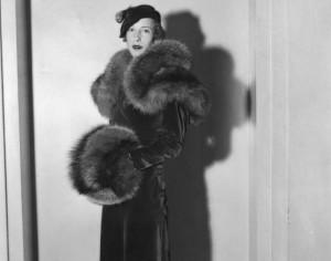 Fashion Models from the 30s--Red Velvet Ensemble, 1933