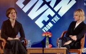 Elizabeth Gilbert and Ann Ptchett at NYPL