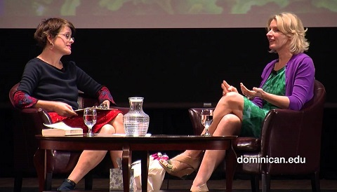 Elizabeth Gilbert and Kelly Corrigan, Dominican University Fall 2013
