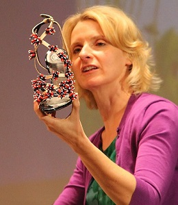 Elizabeth Gilbert with shoe Kelly Corrigan gave her/Fall 2013