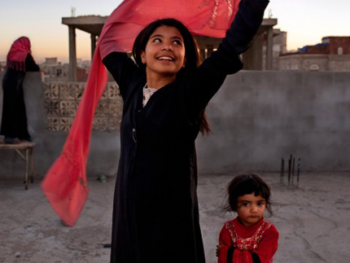 Stephanie Sinclair's photo Too Young To Wed, 2011 at National Geographic Museum's Women of Vision exhibit