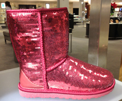 pink sequin ugg boots