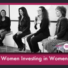 "Women Investing In Women Global Summit ""Women Entrepreneurs"" panel with moderator/founder Anu Bhardwaj (L), Debbie Gaby, Jennifer Mannino, and Nancy Sanders"