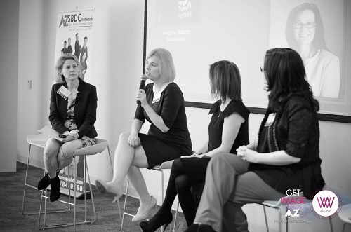 WIIW Panel on Mompreneurs--Angela Raitzin, Michelle Howard, Jessica Marriott, Molly Castelazo