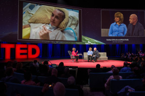 Gabby Gifford and Mark Kelly at TED 2014/Photo: James Duncan Davidson