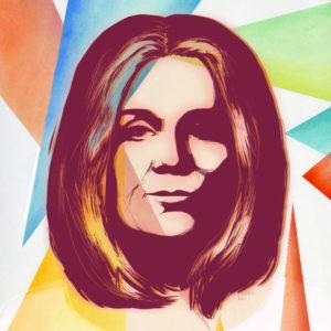 Glora Steinem illustration by Rachel Sumpter, NY Times