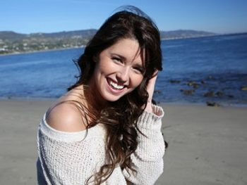 Katherine Schwarzenegger on the beach