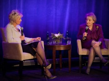 Madeleine Albright and Tina Brown at Women in the World event/March 2014
