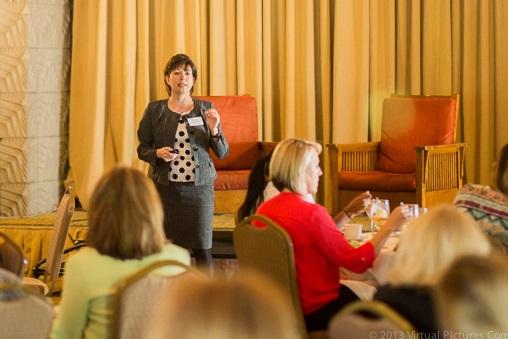 Mitzi Montoya, ASU Dean of Innovation at 85 Broads Luncheon 3/3/14