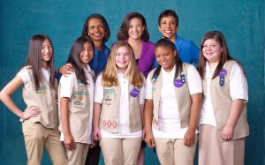 Sheryl Sandberg, Condoleeza Rice, Anna Maria Chavez and Girl Scouts