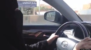 SaudiWoman driver--youtube screenshot