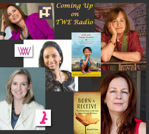 Coming this Spring to TWE Radio: (top left) JR Marriott, Jenny Bowen, Amanda Owen, Yasmina Zaidman, Anu Bhardwaj