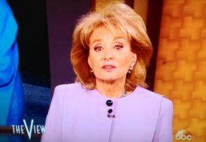 Barbara Walters/Screenshot ABC The View 4/8/14