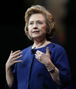 Hillary Clinton Speaking in San Fran/AP File Photo--Ben Margot