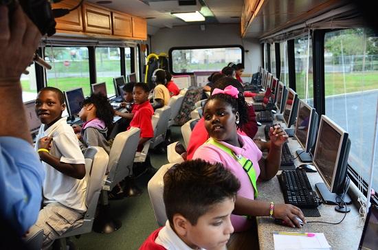 Estella Pyfrom's Brilliant Bus filled with children