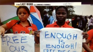 Nigerian Schoolgirl Kidnapping Protest--Screenshot MSNBC