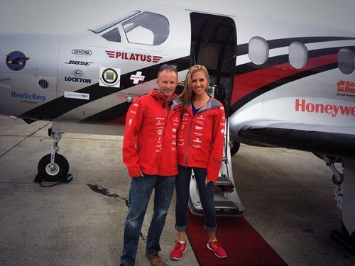 Amelia Earhart with co-pilot Shane Jordan/Amelia's TWITTER