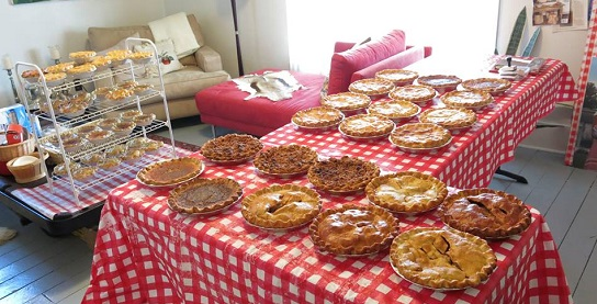Beth Howard pies for 7/4/14/Photo: Daniel Broten