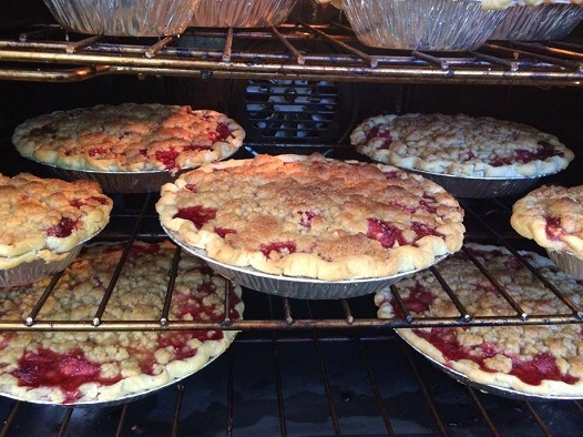 Strawberry pies by Beth Howard, Eldon, Iowa 7/4/14/Photo: Daniel Broten