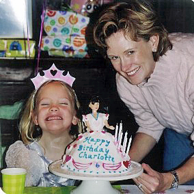 Sukey Forbes and her daughter Charlotte at her birthday party