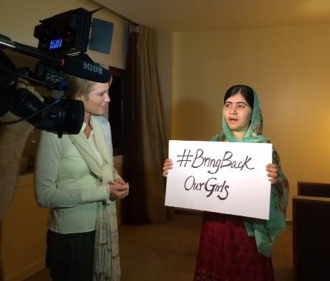 Malala and Amy Robach/ABC--7/2014