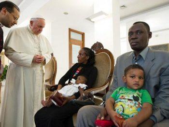 Meriam Ibrahim with the Pope
