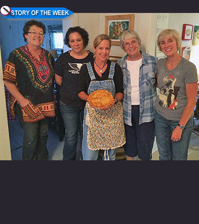 """Pie Lady"" Beth Howard and Her Merry Bakers on the Fourth of July"