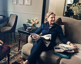 Hillary Rodham Clinton in her office/Photo: Glamour Magazine