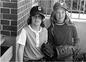 Kim Green and Alice Weldin, two of the core members of the groundbreaking Angels Little League Team