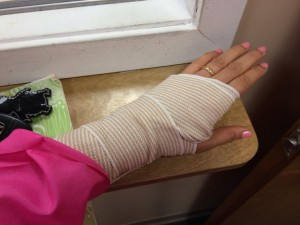 Patty Chang Anker's injured hand