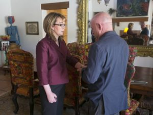 Gabby Giffords' Comeback/pictured with husband Mark Kelly/Photo by David Wallace, The Arizona Republic for article 9/29/14