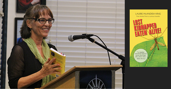 "Author Laurie McAndish King reading at Book Passage for ""Lost Kidnapped Eaten Alive""