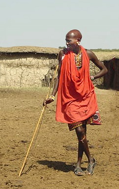 Maasai warrior/Photo from Laurie McAndish King book Lost Kidnapped Eaten Alive!