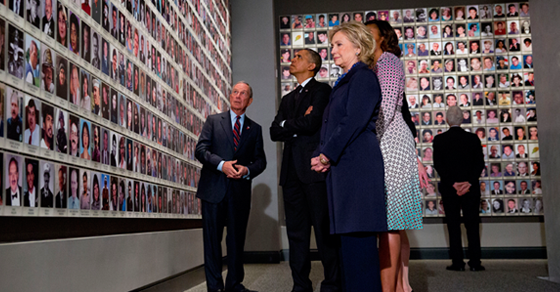 In Memoriam Exhibit with Former Mayor Michael Bloomberg, President and Michelle Obama, and Hillary Clinton 5/15/14/Photo: Jin Lee