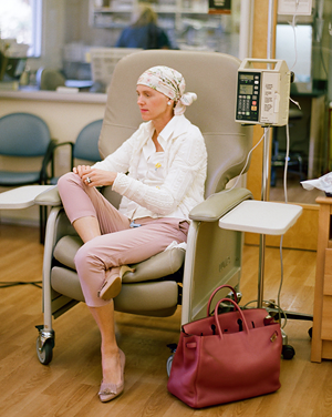 Hollye Jacobs in treatment getting chemo/Photo: Elizabeth Messina