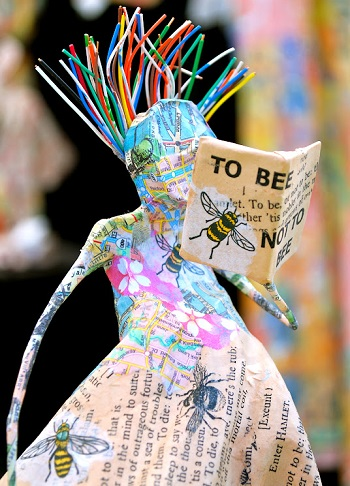 Kathy Ross/Reader sculpture mixed media