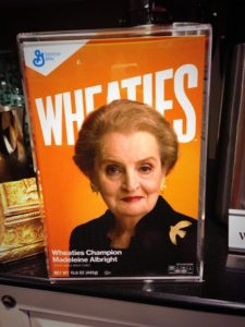 Madeline Albright on Wheaties Box/cbsnews.com