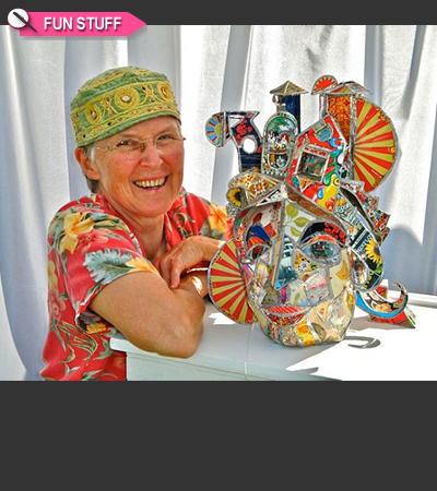 TWE FUN STUFF: Artist Kathy Ross Mixes Media With Wonder And Whimsy