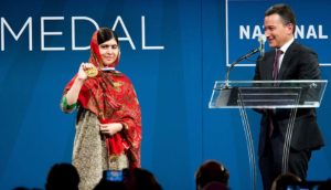 Malala Yousafzai Receives Liberty Medal, Philadelphia/Photo: Jeff Fusco, National Constitution Center