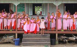 Burmese Nunnery/Photo: Andrew Rothschild for Yahoo