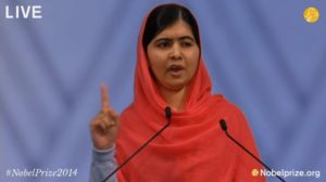 Malala accepting Nobel Peace prize/Screenshot