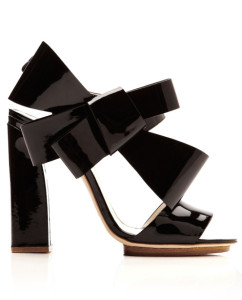 Holiday Shoes--Delpozo patent Leather Sandalsintothegloss.com